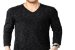 Camiseta Gola V Masculina Rajada Manga Longa - Imagem 1