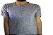 Camiseta Gola Portuguesa (Henley) Masculina com 4 Botões Rajadas Manga Curta - Imagem 3