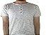 Camiseta Gola Portuguesa (Henley) Masculina com 4 Botões Rajadas Manga Curta - Imagem 1