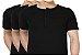 KIT com 3 Camisetas Gola Portuguesa (Henley) Masculina com 4 Botões Manga Curta - Imagem 1