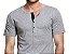 KIT com 3 Camisetas Gola Portuguesa (Henley) Patê Colorido Masculina com 4 Botões Manga Curta - Imagem 4