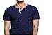KIT com 3 Camisetas Gola Portuguesa (Henley) Patê Colorido Masculina com 4 Botões Manga Curta - Imagem 3