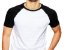 KIT com 3 Camisetas Gola Raglan Masculina Manga Curta - Imagem 3