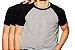 KIT com 3 Camisetas Gola Raglan Masculina Manga Curta - Imagem 1