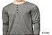 Camiseta Gola Portuguesa (Henley) Masculina com 4 Botões Reverse Manga Longa - Imagem 1