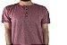Camiseta Gola Portuguesa (Henley) Patê Colorido Modelo 4 Masculina com 4 Botões Manga Curta - Imagem 2