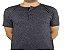 Camiseta Gola Portuguesa (Henley) Patê Colorido Modelo 5 Masculina com 4 Botões Manga Curta - Imagem 3
