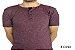 Camiseta Gola Portuguesa (Henley) Patê Colorido Modelo 5 Masculina com 4 Botões Manga Curta - Imagem 1