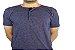 Camiseta Gola Portuguesa (Henley) Patê Colorido Modelo 5 Masculina com 4 Botões Manga Curta - Imagem 2