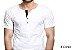 Camiseta Gola Portuguesa (Henley) Patê Colorido Modelo 1 Masculina com 4 Botões Manga Curta - Imagem 1