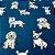 Manta Projeto Soninho Zen - Blue Dogs - Compre uma e doe outra - Imagem 2