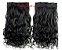 Aplique Alongamento Tic Tac Mega Hair Orgânico Liso Preto 140gr Perfeição Preto Ondulado - Imagem 1