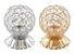 Porta Pincel Para Maquiadores Manicures Luxo Esfera - Prata - Imagem 1
