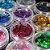Cartela Glitter Coração 12 Cores Encapsulamento Unhas Brilho - Imagem 1