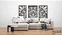 Mandala Clássica Emoldurada Flores Prosperidade Triplo Frame - mdf cru 102 x 102 cm - Imagem 7