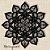 Mandala Clássica Lace Amor 48 cm em mdf cru - Imagem 1