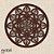 Mandala Clássica Emoldurada Lace Amor 48 cm em mdf cru - Imagem 1