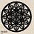 Mandala Clássica Emoldurada Lace Amor 60 cm em mdf cru - Imagem 2