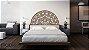 Meia Mandala Flores Prosperidade 48 x 22,50 cm em mdf cru - Imagem 5