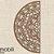 Meia Mandala Flores Prosperidade 48 x 22,50 cm em mdf cru - Imagem 2
