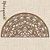 Meia Mandala Flores Prosperidade 60 x 30 cm em mdf cru - Imagem 4