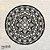 Mandala Clássica Flores Prosperidade 48 cm em mdf cru - Imagem 2