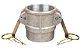 Acoplador Alumínio 3x3  fêmea/fêmea rosca interna - Imagem 1