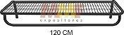 Prateleira com Cabideiro - 120 x 40 cm - Imagem 1