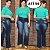 Calça Jeans Flare Plus Size Cintura Alta Lavagem Última Moda - Imagem 1