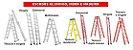 Escadas Aluminio e Fibra e Madeira - Imagem 1
