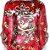 Estátua de Buda Vermelho com Detalhes em Dourado Artesanal  - Imagem 2