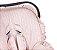 Capa Bebê Conforto com Protetor de Cinto e Babado Raminhos Rosa - Batistela - Imagem 2
