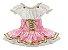 Fantasia Moranguinho Rosa Infantil Tam 2 - Imagem 1