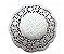 Papel Rendado Doilies 10 cm Prata 20 unidades - Imagem 1