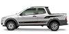 Faixa Lateral Fiat Strada St1 Adesivos Sport Acessório Fita Colante Srt Wolf 1 - Imagem 1