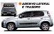 Kit Adesivo Lateral e Traseira Novo Uno Attractive Kit Faixa Fita Colante acessórios SRT Wolf 1 - Imagem 1