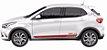 Argo Hgt 1.8 Faixa Lateral Acessórios  Adesivo Para Carro Fita Colante SRT Wolf 1 X11Auto - Imagem 5