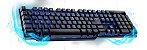 TECL USB GAMER SEMI-MEC LED WARRIOR TC196 (GAR. 12M) - Imagem 1