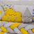 Kit Berço Trança Chuva de Amor Amarelo 10 Peças - Imagem 3
