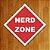 Placa Decorativa - Nerd Zone - Imagem 1