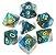 Conjunto de Dados para RPG - Glitter - Turquesa e Cobre - Imagem 1