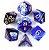 Conjunto de Dados para RPG - Mesclado - Azul e Branco - Imagem 1