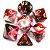 Conjunto de Dados para RPG - Mesclado - Vermelho e Branco - Imagem 1