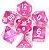 Conjunto de Dados para RPG - Translúcido - Rosa - Imagem 1