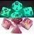 Conjunto de Dados para RPG - Fluorescente - Rosa - Imagem 2