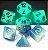 Conjunto de Dados para RPG - Fluorescente - Azul - Imagem 2