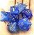 Conjunto de Dados para RPG - Pedra - Azul Escuro - Imagem 1