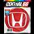 Adesivo Resinado Honda Vermelho Redondo - Imagem 1