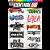 Cartela Individual Musica Rock M1 - P3 Adesivos Stickers - Imagem 1