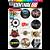 Cartela Individual Musica Rock M1 - P2 Adesivos Stickers - Imagem 1